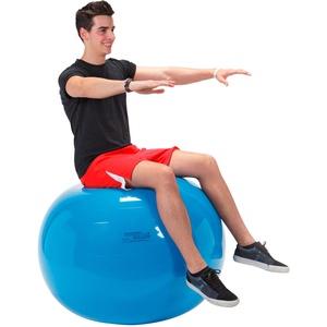 GYMNIC Gymnastikball Sitzball Yogaball Bürostuhl Büroball Fitnessball 95 cm BLAU, blau