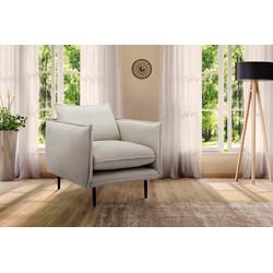 INOSIGN Sessel Somba, mit dickem Keder und eleganter Optik beige