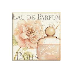 Artland Wandbild Blumen und Parfum II, Schilder (1 Stück) 40 cm x 40 cm