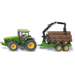 Siku Spielzeug-Traktor SIKU Farmer, John Deere 8430 mit Forstanhänger