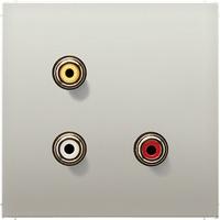 Jung MAES1031 Cinch Audio / Composite Video edelstahl