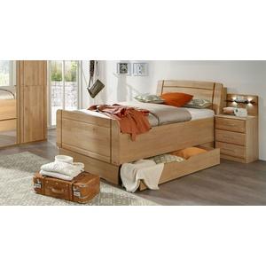 Seniorenbett mit Bettkasten im Kopfteil Erle 120x200 cm - Ageo