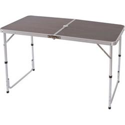 Campingtisch T367, Klapptisch Gartentisch Koffertisch ~ 68x120x60cm mit Schirmloch