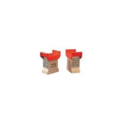 BRIO® Spielzeug-Eisenbahn Brückenfundament (2 Stück)