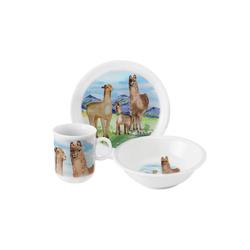 Seltmann Weiden Kindergeschirr-Set Kinder-Geschirr-Set 3-teilig Compact Alpaka (3-tlg), Porzellan