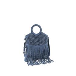Tasche mit Fransen blau