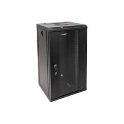 HMF Serverschrank 10 Zoll, 6-12 HE Netzwerk-Switch (12 HE, Netzwerkschrank voll Montiert, 31,2 x 30 x 61,6 cm, Schwarz) schwarz 31.2 cm x 61.6 cm x 30 cm
