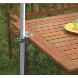 Profiline Tischklammer Schirmhalter Halterung für Sonnenschirme 450649