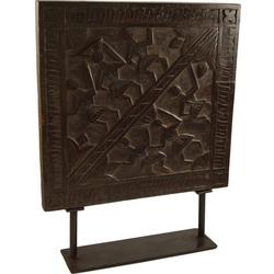 Guru-Shop Dekoobjekt Holzbild, Holzskulptur mit Ständer - Modell 2
