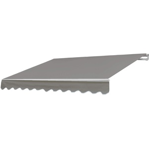 Mendler Alu-Markise HWC-E49, Gelenkarmmarkise Sonnenschutz 2,5x2m - Polyester, grau-braun