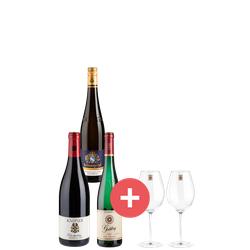 3er-Paket VDP.Große Gewächse + GRATIS Enoteca Zwiesel Gläser im Wert von 59,95€ - Weinpakete