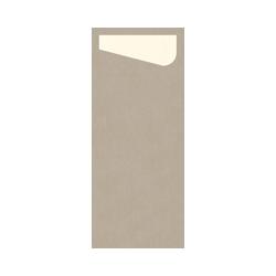 Duni SACCHETTO 230x115mm Dunisoft Servietten ,greige/Servietten cream - 4x60 ...