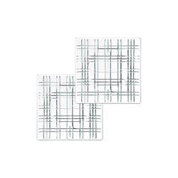 Nachtmann Square Geschirr Platte 21 cm klar quadratisch 2er Set