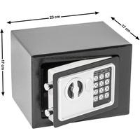 Tectake Elektronischer Safe Tresor mit Schlüssel inkl. Batterien