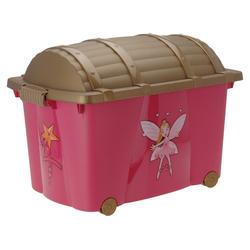 made2trade Aufbewahrungsbox Spielzeugkiste - Fee, mit Rollen rosa