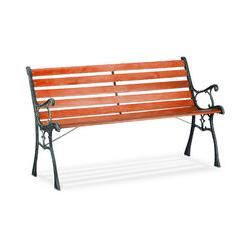 Relaxdays - Banc de jardin, 2 places, H x L x P 74 x 126 x 53 cm, bois, fonte, extérieur, solide,