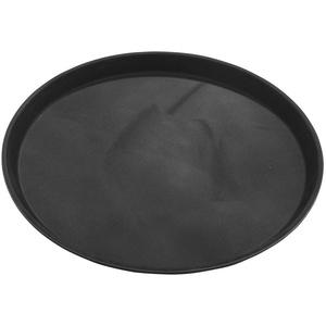 """Grunwerg PNB-1100 Tuffgrip Super Plastic Essenstablett aus Kunststoff im weiβen Geschenkkarton verpackt – Rund, Schwarz, 27 cm, 11"""" Durchmesser"""