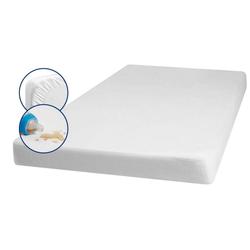 Playshoes Molton-Spannbettlaken 100x200 cm weiß