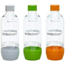 SodaStream PET Wasserflaschen grün orange weiß 1000ml 3 Stück