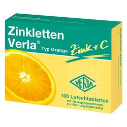ZINKLETTEN Verla Orange Lutschtabletten 100 St