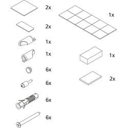 Kermi Montage-Kleinteile 2534473 silber mattglanz, Halbkreis-Duschkabine RA Z..