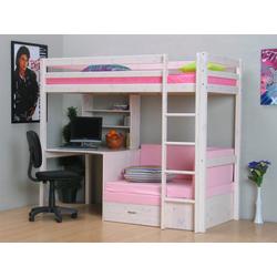 ebuy24 Kinderbett Thuka Kids Hochbett, Couch, Lattenrost, Matratze,