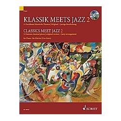 Klassik meets Jazz  für Klavier  m. Audio-CD. Uwe Korn  - Buch