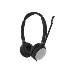 Yealink UH36 Dual - Headset - On-Ear - kabelgebunden - USB, 3,5 mm Stecker - Schwarz und Silber