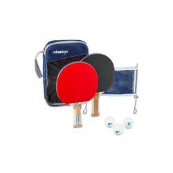 relaxdays Tischtennisschläger Tischtennis Set mit Netz (7-tlg)
