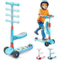Arkmiido Schneescooter Scooter Roller Kinder blau