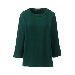 Wollmix-Pullover mit Rundhalsausschnitt, Damen, Größe: XS Normal, Grün, by Lands' End, Fichtenhain - XS - Fichtenhain