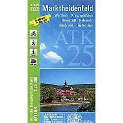 Amtliche Topographische Karte Bayern Marktheidenfeld - Buch