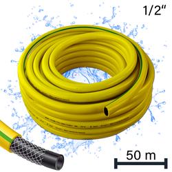 Profi Gartenschlauch / Wasserschlauch 1/2 Zoll / 50 m gelb