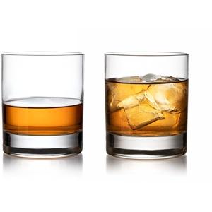 "Topkapi Whisky Glas ""Batosai"" für Whisky D.O.F., Whisky on the Rocks, Drinks, Bar & Lounge Serie, H ~9,5 cm, V ~395 ml, 2 Stück Transparent"