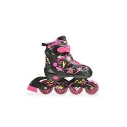 Byox Inlineskates Inliner Kinder und Rollschuhe 2 in 1 Zax, pink verschiedene Größen ABEC-7 Lager Gr. 38-41