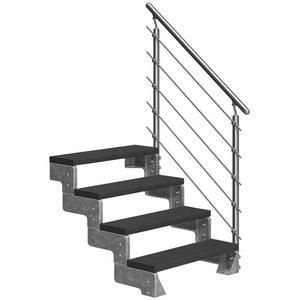 Dolle Außentreppe Gardentop, für Geschosshöhen bis 88 cm, Stufen offen, TRIMAX®-Stufen 100 cm
