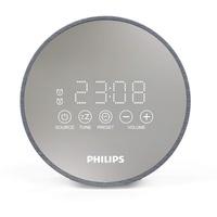 Philips TADR402 Radiowecker UKW USB Akku-Ladefunktion, Touchscreen Grau