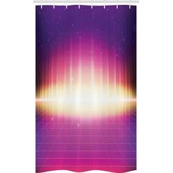 Abakuhaus Duschvorhang Badezimmer Deko Set aus Stoff mit Haken Breite 120 cm, Höhe 180 cm, Vaporwave 80er Retro Sci-Fi Hintergrund