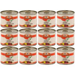 LANDFLEISCH Nassfutter Pur Rind und Reis, 12 Dosen á 195 g