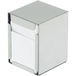 SCHNEIDER Serviettenspender, Edelstahl, Tischspender für ca. 100 Servietten 170 x 170 mm, Maße: 95 x 100 x 130 mm