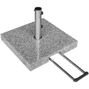 anndora Komfort Sonnenschirmständer Granit 55kg Schirmfuß Edelstahl rollbar