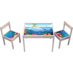 STIKKIPIX Möbelfolie KA09, Unterwasserwelt Aufkleber - KA09 - (Möbel Nicht inklusive) - Möbelsticker passend für die Kindersitzgruppe LÄTT von IKEA