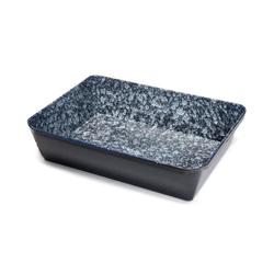 acerto® Backform Emaille Ofenform eckig 20 x 28 x 6 cm Bratenform Bräter Auflaufform