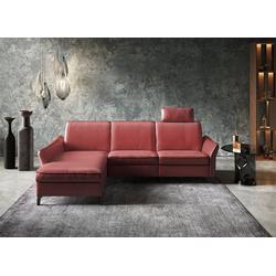 himolla Ecksofa 1920, ein oder zwei integrierte Relaxsitze, Recamiere rechts oder links, Armlehen verstellbar rot