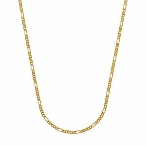HOPLO Goldkette 1,1 mm 45 cm 585 - 14 Karat Gelbgold Figarokette (inkl. Schmuckbox) goldfarben