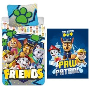 Babybettwäsche PAW Patrol - Friends - Baby-Bettwäsche-Set, 100x135 und Fleecedecke, 100x140, PAW PATROL, 100% Baumwolle