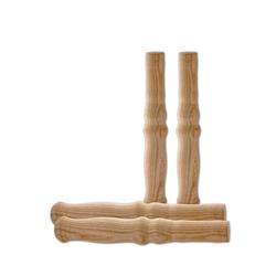 BigDean Schubkarre 4 XXL Holzgriffe für Schiebkarre ca. 23,5 cm lang − Hochwertig, flexibel, bereichernd − Ideal für jede Sackkarre