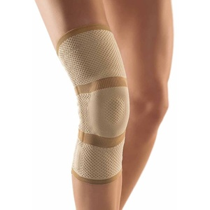Bort StabiloGen® Eco Kniegelenk Bandage Knie Gelenk Stütze Silikonpelotte, hautfarben, L