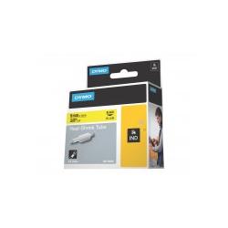 Dymo RhinoPRO Heat shrink tubing Polyolefin Schwarz auf Gelb Rolle 0,9 cm x 5,5 m Hüllen für Rhino 4200 6000 Hard Case Kit (18054)