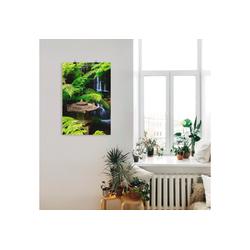 Artland Wandbild Japanische Laterne, Spa (1 Stück) 60 cm x 90 cm